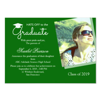 Green Graduation Celebration Invitation