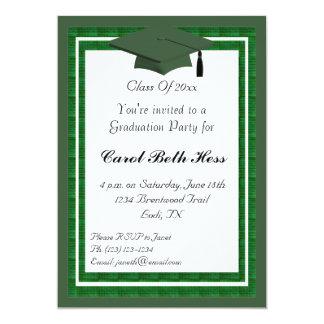 Green Graduation Party Invitation