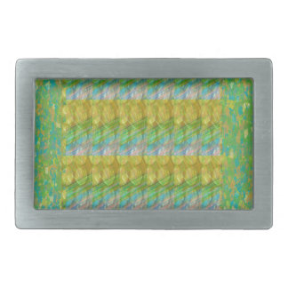Green Graffiti Confetti n Crystal Bead Stone Patch Belt Buckles
