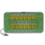 Green Graffiti Confetti n Crystal Bead Stone Patch iPod Speakers