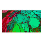 Green graffiti girl Double-Sided standard business cards (Pack of 100)