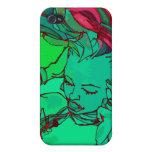 Green graffiti girl iPhone 4/4S case