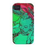 green graffiti girl vibe iPhone 4 cases