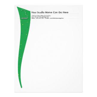 Green Grand Piano Letterhead