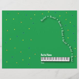 Green Grand Piano Recital Blank