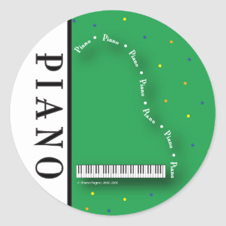 Green Grand Piano Stickers