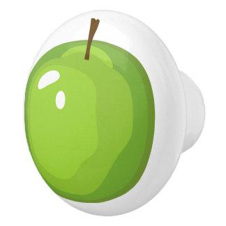 Green Granny Smith Apple Door Knob