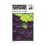 Green Grape Fitting In Postage Stamp