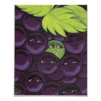 Green Grape Fitting In Poster