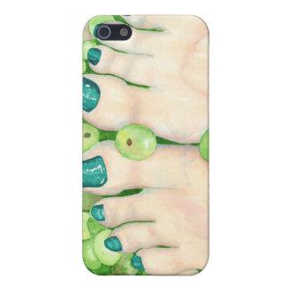 Green Grape Pedicure Case For iPhone 5