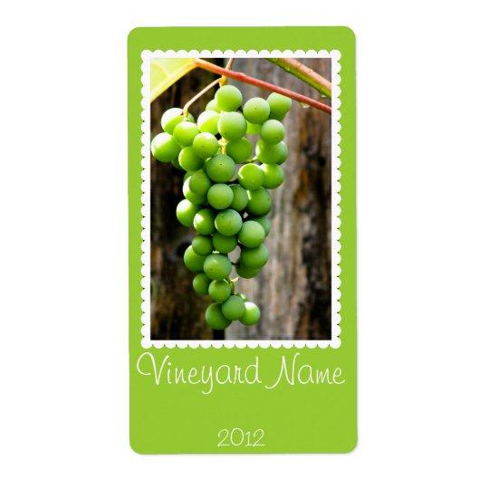 Green Grape Personalized Wine Label