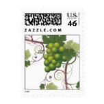 Green grape stamp
