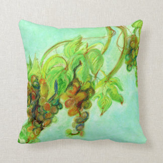 Green grape throw pillow
