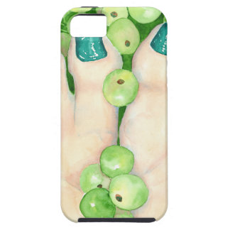 Green Grapes and Pedicure iPhone SE/5/5s Case
