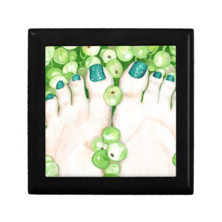 Green Grapes and Pedicure Jewelry Box