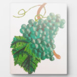 Green grapes display plaque