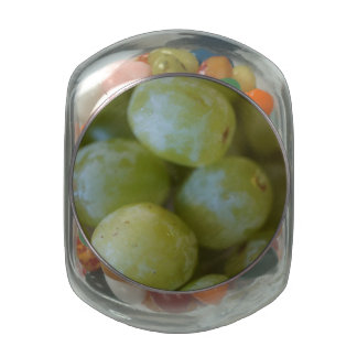 Green Grapes Glass Candy Jars