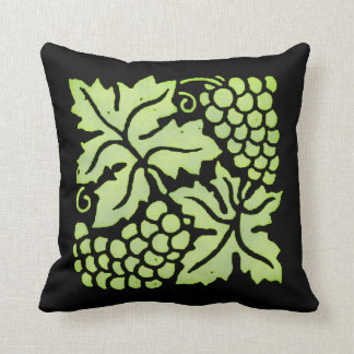 Green Grapes on Black Pillows