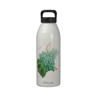 Green grapes reusable water bottles