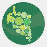 Green Grapes Round Sticker