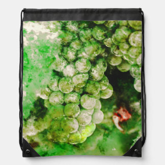 Green Grapes Used to Make Wine Drawstring Backpack
