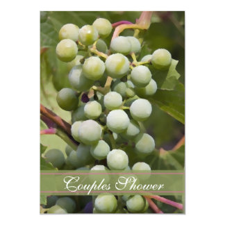 Green Grapes Vineyard Couples Shower Wine Tasting Card
