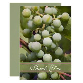 Green Grapes Vineyard Flat Thank You Card
