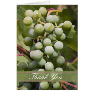 Green Grapes Vineyard Thank You Card