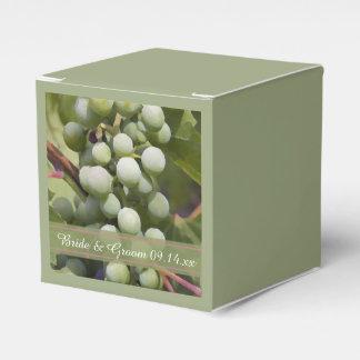 Green Grapes Vineyard Wedding Favor Box