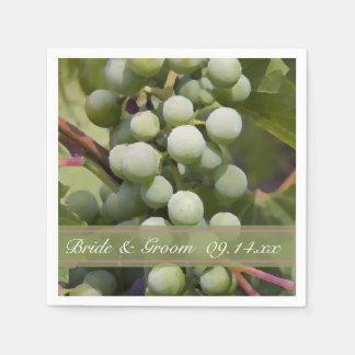 Green Grapes Vineyard Wedding Paper Napkin