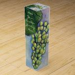 Green Grapes White Wine Custom Bottle Art Gift Box Wine Boxes