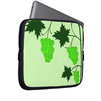 Green Grapevine Laptop Sleeves