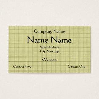 Green Graph Paper Business Card