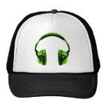 Green Graphic Headphones Trucker Hat