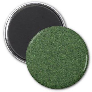 Green grass 2 inch round magnet