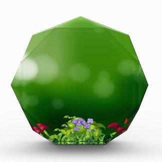 Green grass acrylic award