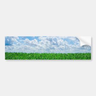 Green grass and blue sky bumper sticker