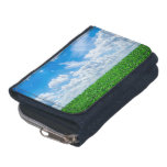 Green grass and blue sky wallet