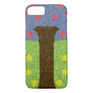 Green grass and blue tree iPhone 7 case