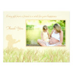 Green grass baby shower thank you card personalized invitations