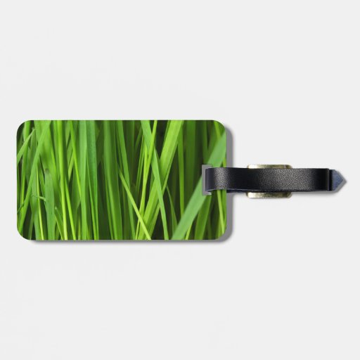 Green Grass background Bag Tags