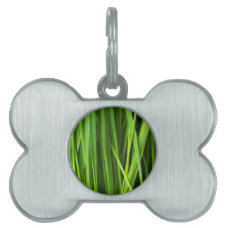 Green Grass background Pet Tag
