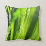 Green grass background pillow