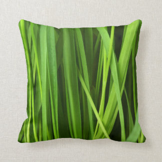 Green Grass background Throw Pillow