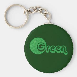 Green Grass Basic Round Button Keychain