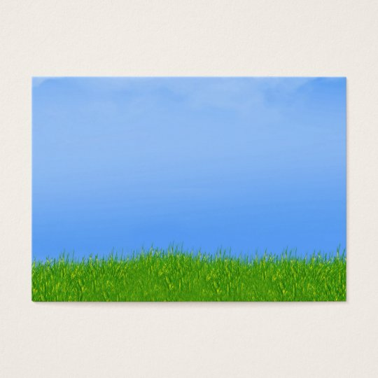 Green Grass & Blue Sky Background Business Card