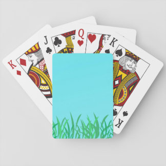 Green Grass & Blue Sky Illustration Playing Cards