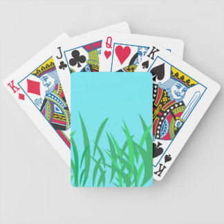 Green Grass & Blue Sky Illustration V2 Bicycle Playing Cards
