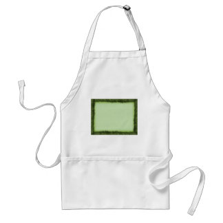 Green grass border on light green adult apron