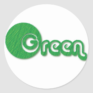 Green Grass Classic Round Sticker